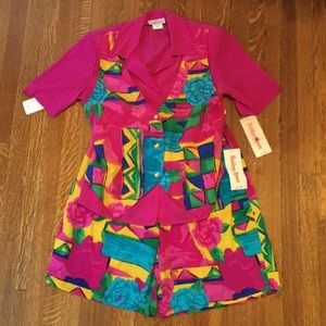 Dead Stock vintage shorts/culottes set